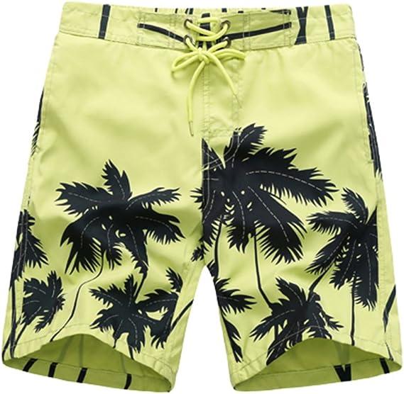 APTRO Mens Quick Dry Swim Trunks Long Palm Beach Board Shorts Bathing Suit