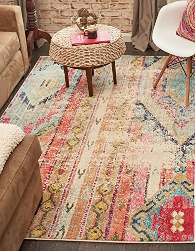 Unique Loom 3131868 Area Rug, 3 x 5, Multicolored