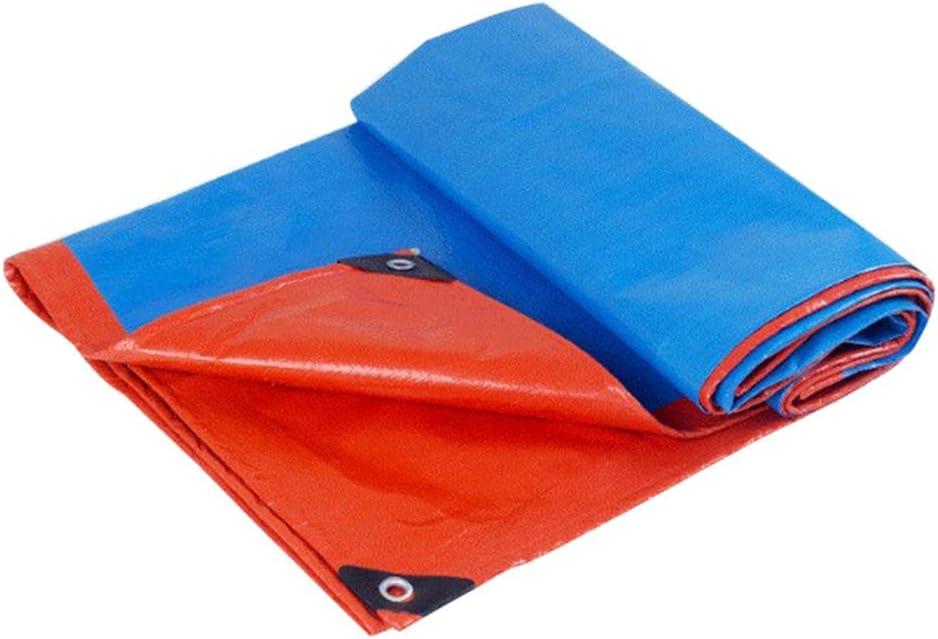 BIAO Tela Impermeable Acolchada, Impermeable Y Acolchada, PañO De Cubierta De Triciclo EléCtrico para Autos Al Aire Libre, PañO De PláStico PE Azul Naranja (12 TamañOs)