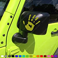 Two Wave Stickers Compatible with Jeep Wrangler JL JT JK TJ YJ CJ (x2) Decals Pair Left & Right (Army Green (Olive))