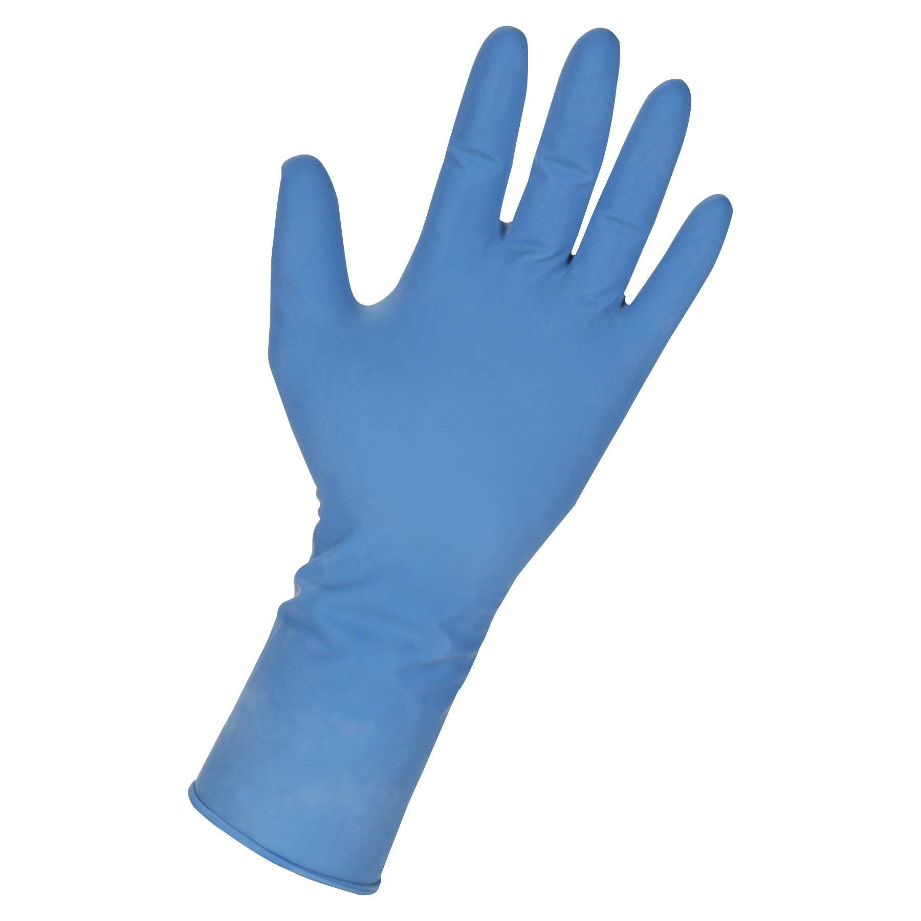 Genuine Joe GJO15385 14 Mil Max Protection Industrial Latex Gloves, XX-Large, Dark Blue (Pack of 50)