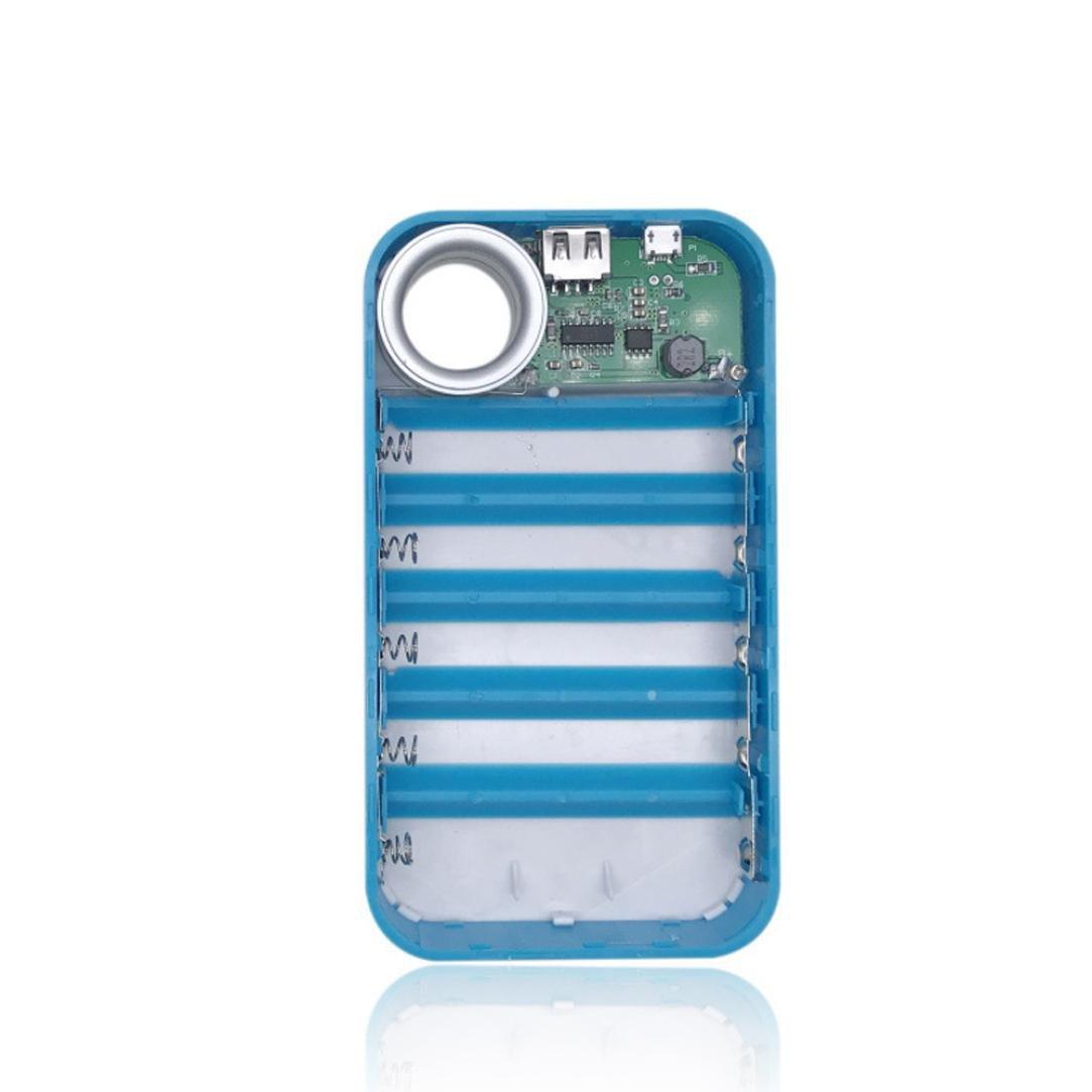 Creazy 13000mAh USB Power Bank 5x18650 Battery Charger DIY Box Case Holder For Phone LG (White) by Creazydog (Image #3)