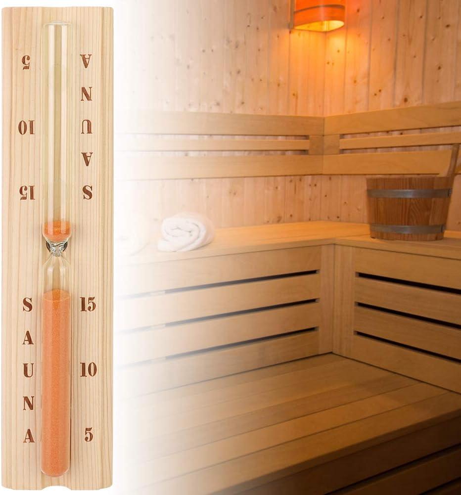 Fdit Sauna Sanduhr Sanduhr aus Holz Wand-Sauna Sanduhr-Saunauhr f/ür den Saunaraum-Whirlpool MEHRWEG VERPAKUNG