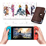 24 Pcs NFC Cards with Holer for The Legend of Zelda Breath of The Wild BOTW Switch/Switch Lite/Wii U/New 3DS with Card Case