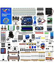 Adeept Ultimate Starter Kit compatible para Arduino UNO R3, LCD1602, Servo motor, relé, procesamiento y código C, Arduino Starter Kit con guía de 140 páginas