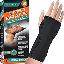 Night Wrist Sleep Support Brace – Fits Both Hands – Cushioned to Help With Carpal Tunnel and Relieve and Treat Wrist Pain ,Adjustable, Fitted-ComfyBrace