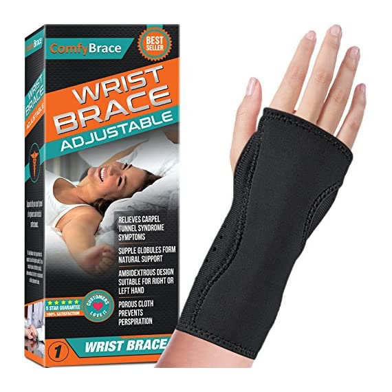 Night-Wrist-Sleep-Support-Brace-Fits-Both-Hands-Cushioned-to-Help-with-Carpal-Tunnel-and-Relieve-and-Treat-Wrist-PainAdjustable-Fitted-ComfyBrace