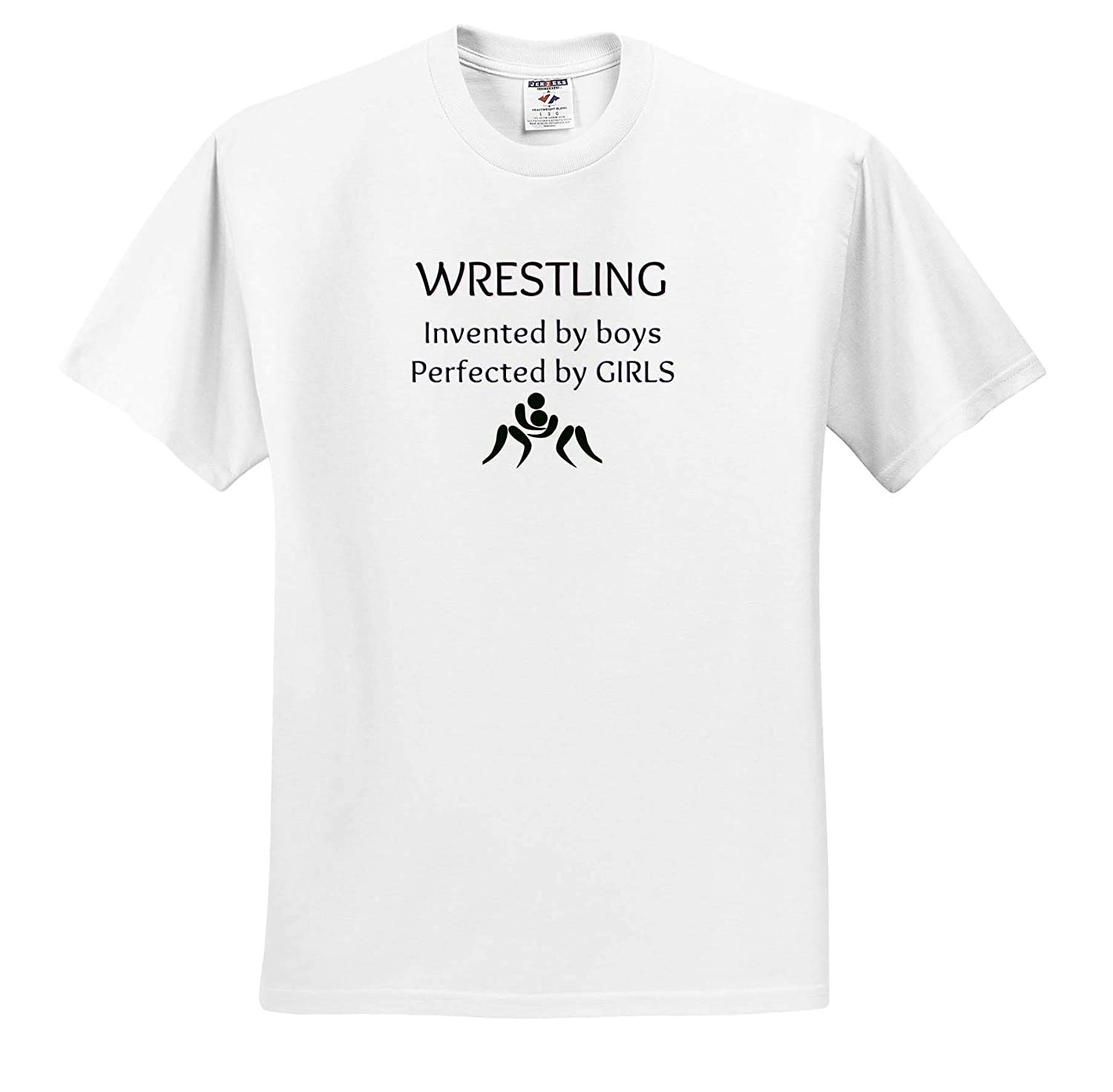 T-Shirts Image of Wrestling Invented by Boys Perfected by Girls 3dRose Carrie Merchant Quote