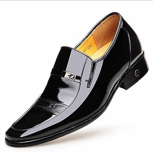 cdce164b80 Zapatos de Cuero para Hombres Zapatos de Moda para Hombres de Primavera y  Otoño Zapatos de Cuero de Negocios Formales Zapatos para Caminar Zapatos de  Boda ...