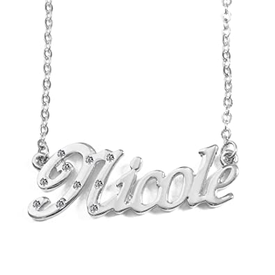716fc0e3cb7e0 Amazon.com: Name Necklace