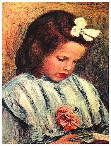 ArtPlaza TW92717 Renoir Pierre-Auguste - A Reading Girl Decorative Panel 27.5x35.5 Inch -