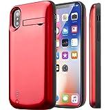 バッテリーケース iphoneXバッテリー内蔵ケース iphone x battery case 5000mAh大容量 使用時間150%アップ スタンド機能付き 便利 Ligtingイヤホンに対応(iphonex赤)Cofuture