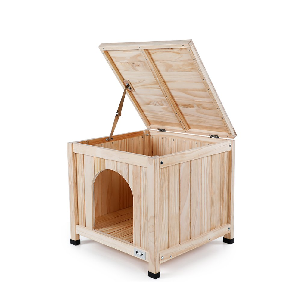 Petsfit Indoor Wooden Pet House for Small Dog and Cat, 1-Year Warranty