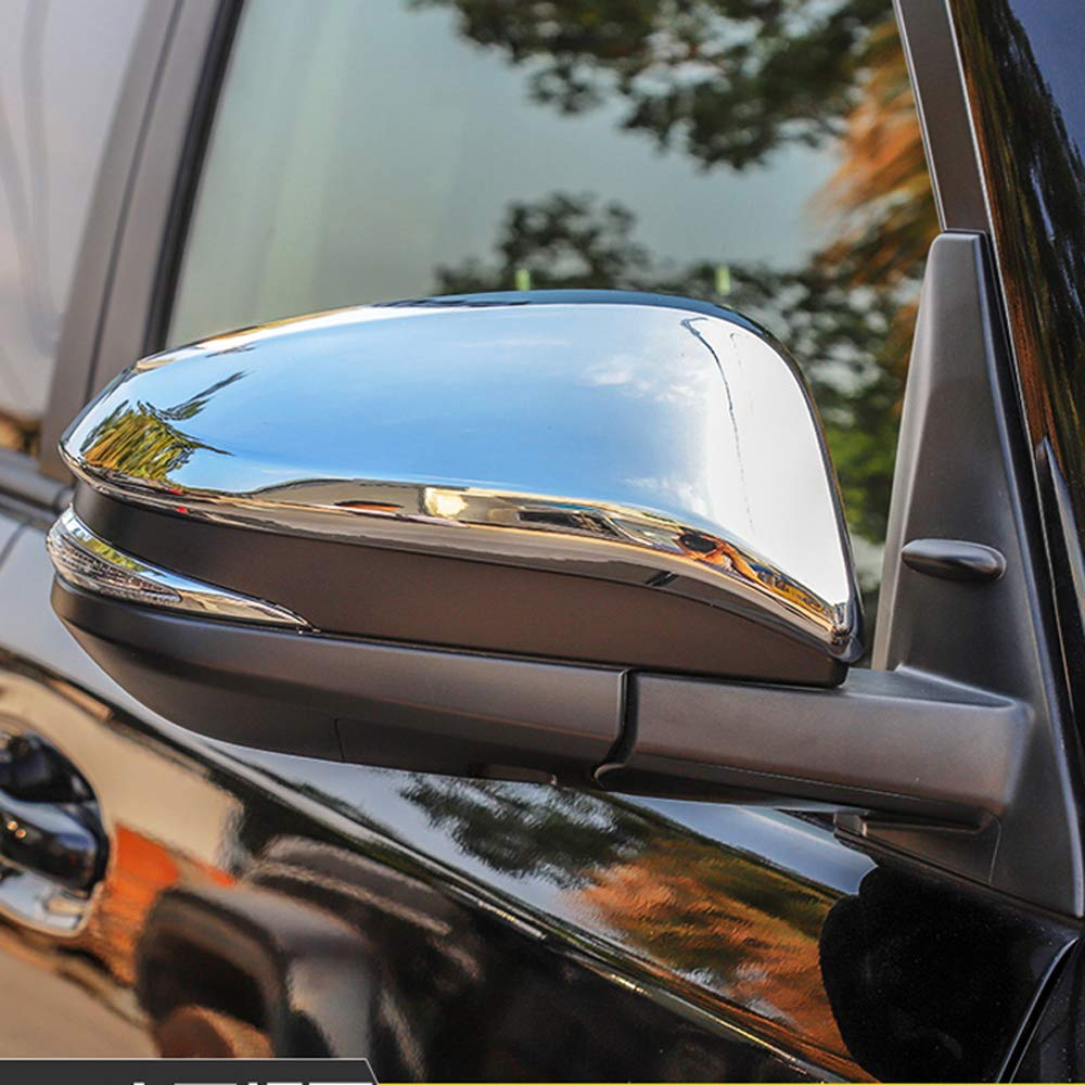 Bishop Tate Car Styling Rear View Mirror Decoration Upper Partial Strips Cover Trim for Toyota 4Runner 2014-2019