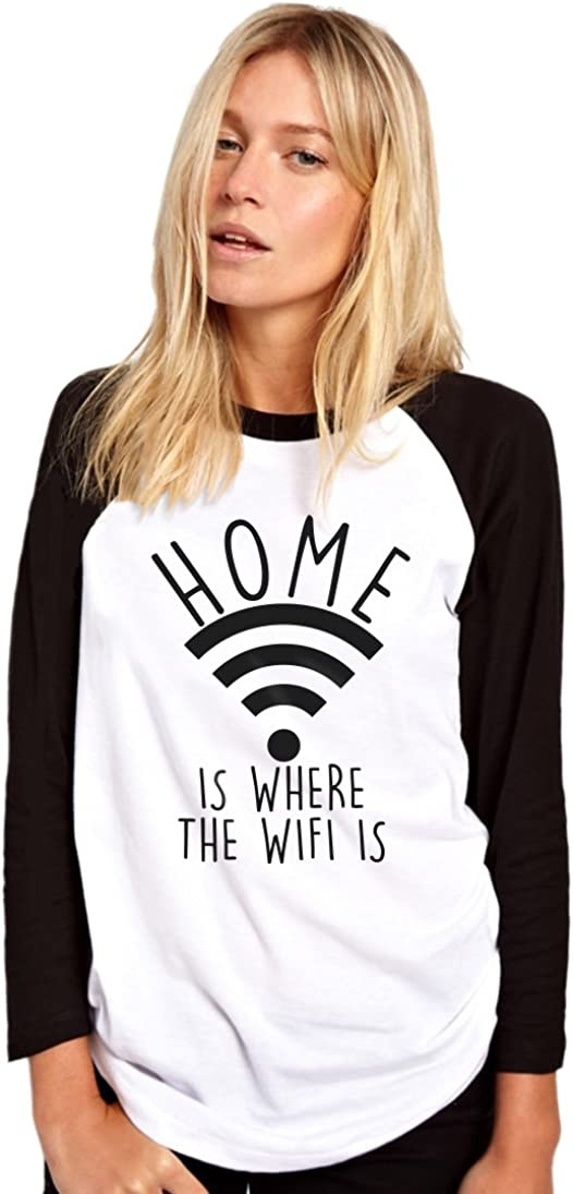 Funny Teen Tumblr Kids T-Shirt Home Is Where The Wifi Is