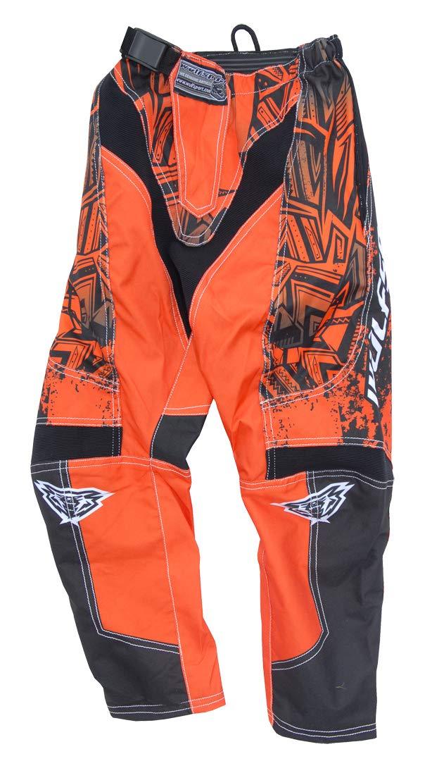 Wulfsport Kids 2019 Aztec Motocross Motorbike Pants Trousers Orange Waist 26