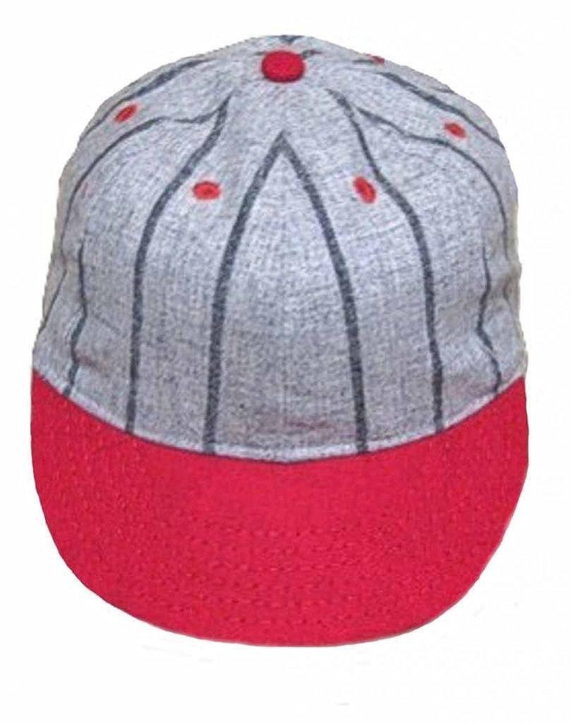 Ideal Cap Co. Pinstripe Brooklyn Style Vintage Baseball Cap Cap Circa 1910  at Amazon Men s Clothing store  e0ae48c37a4