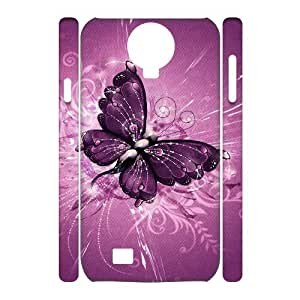 ALICASE Diy Case Butterfly Cover For Samsung Galaxy S4 i9500 [Pattern-1]