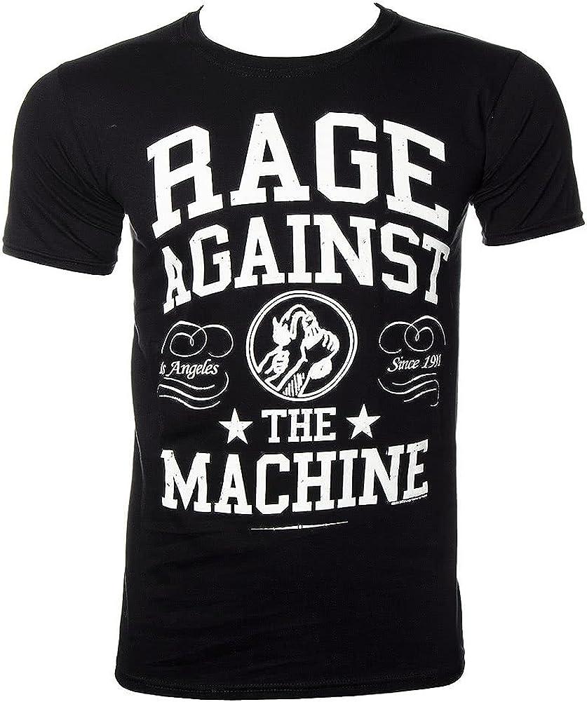 Camiseta negra con inscripción en blanco en inglés «Rage Against The Machine» negro/blanco X-Large: Amazon.es: Ropa y accesorios