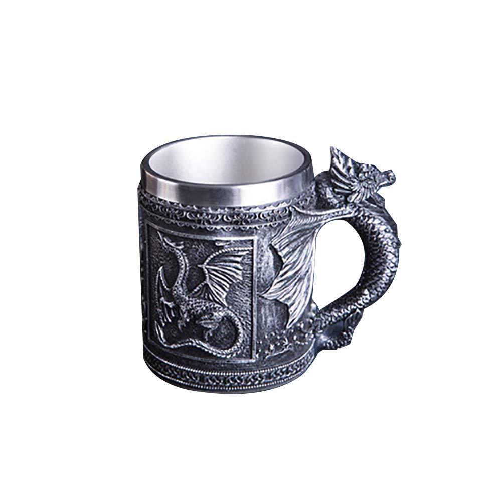 Taza de acero inoxidable con dragón