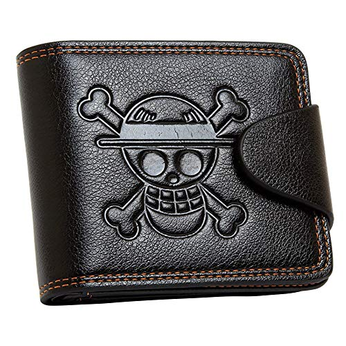 (Mxcostume Anime One Piece Cosplay Straw Hat Pirates Jolly Roger Wallet (Brown))
