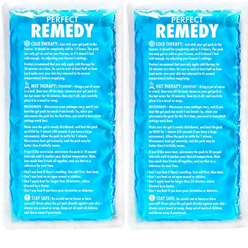 Reusable Cold Therapy - Large Ice Pack for Injury (Set of 2) - Perfect Remedy Gel Cold Packs for Injuries, Pain Relief, Rehabilitation, Flexible Therapy for Knee, Shoulder, Back, Neck, Ankle