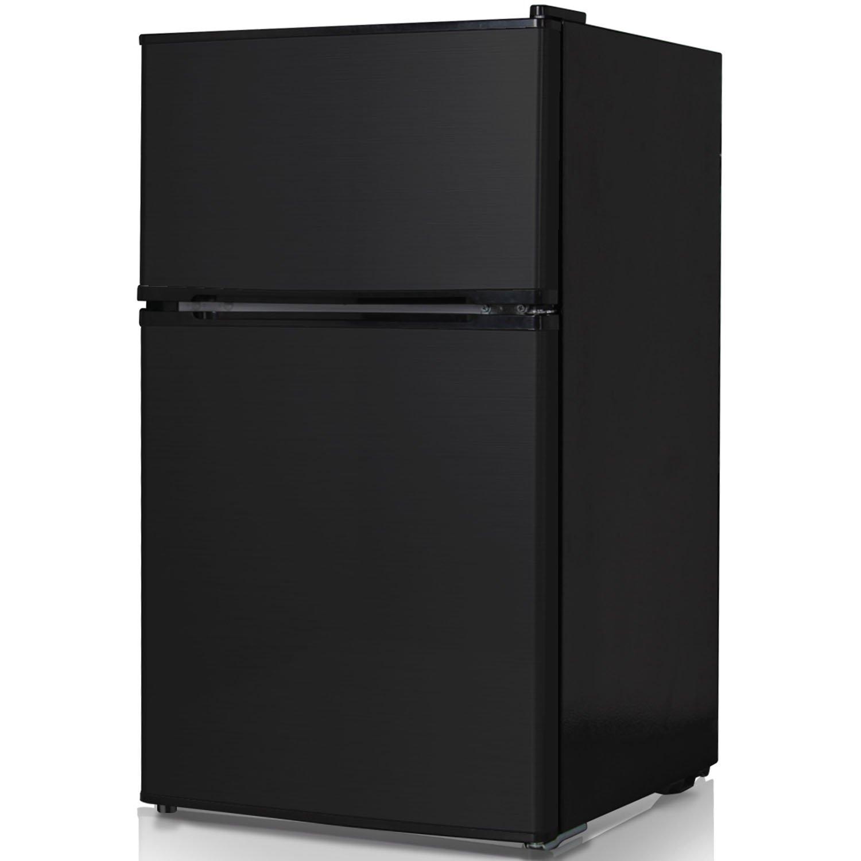Keystone KSTRC312CB Compact 2-Door Refrigerator/Freezer 3.1 Cubic Feet Black