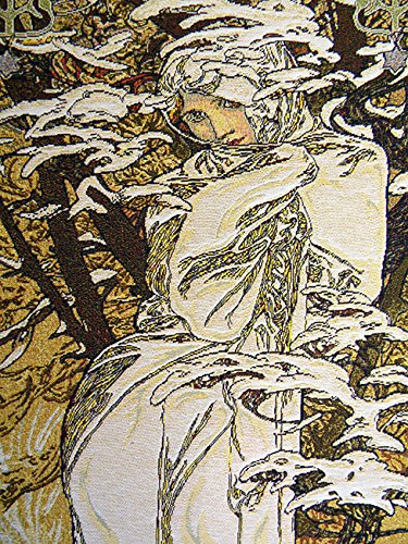 Mucha Winter European Wallhanging by Charlotte Home Furnishings