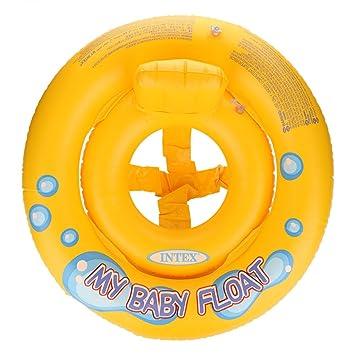 Aramox Flotador Hinchable bebé 67cm niños Inflable de natación Ronda Anillo, Amarillo