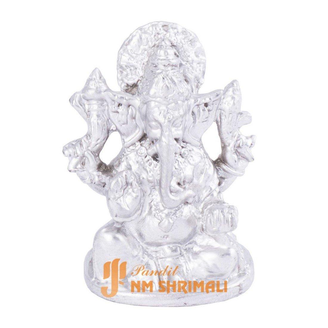 Mercury Pandit NM Shrimali Parad Ganesh 115Gm