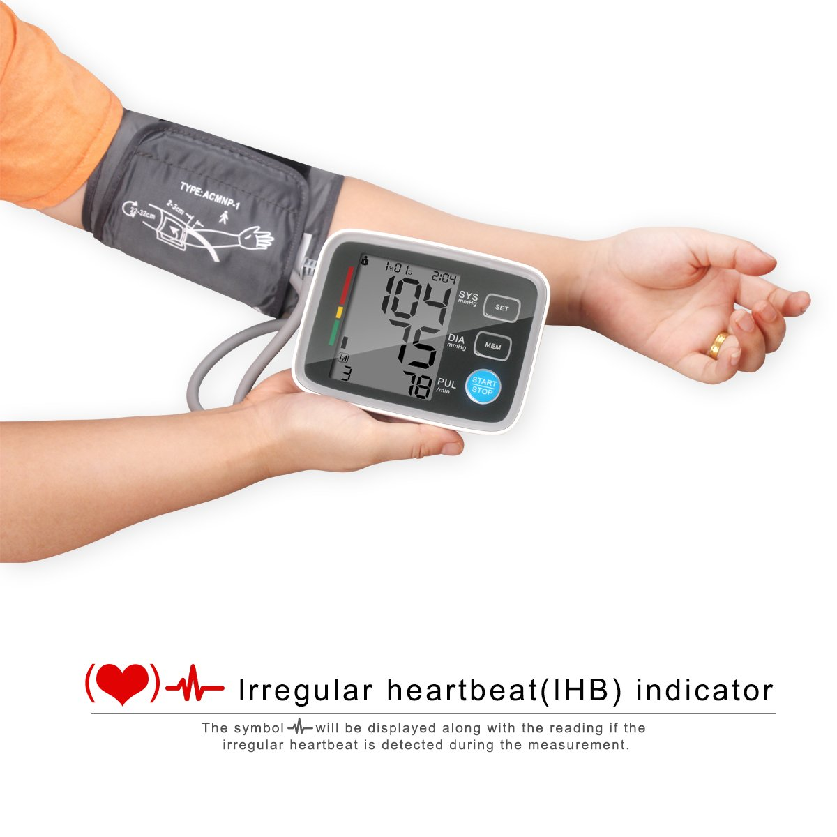 Amazon Automatic Digital Upper Arm Blood Pressure Monitor With