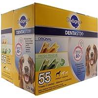 Pedigree Dentastix (Fresh/ Original) Daily Snack Food for Adult Dogs Pack of 55 Net Wt 1.34 Kg, 1.34 Kilogram