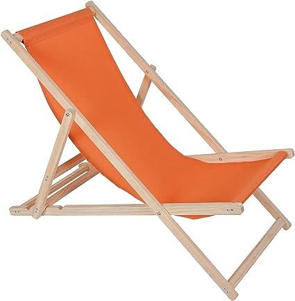 Liegestuhl Relaxliege Klappbar Campingstuhl Holz Strandliege Strandstuhl