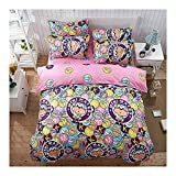 Fashion Monkey Design Kids/Adult Bedding Sets 4pcs/Set Bedsheet Duvet Cover Pillow Cases Twin Full Queen King Size (Twin, Hip Hop Monkey)