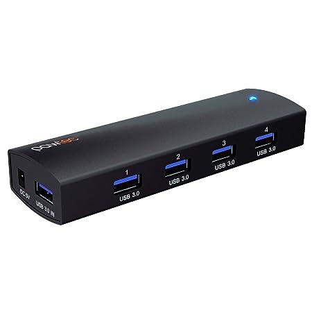Pawtec Powered 4-Port Aluminum USB 3.0 SuperSpeed Powered Hub Compact & Portable w/ AC Adapter [VIA VL812-B2 Chipset] for Windows, Mac, Linux, Surface Pro 2 3 4, Macbook Pro Air Retina, iMac, Mini at amazon