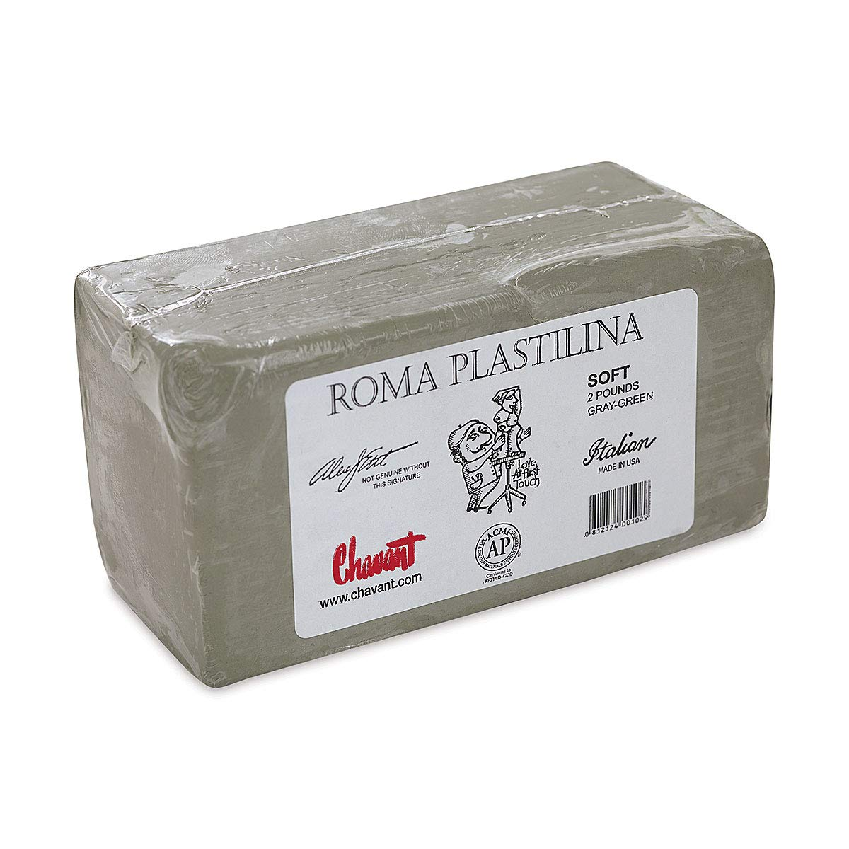 Sculpture House Roma Plastilina Modeling Material gray-green No. 1 - Soft