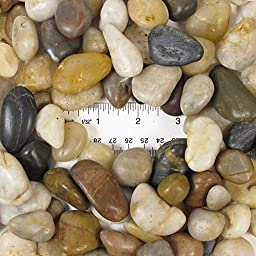Natural Polished Mixed Color Stones Large, total weight approximately 5 pounds, average size 0.75\