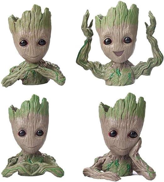 4 Pack Baby Groot Flower Pot Tree Man Maceta Maceta Con Orificio ...