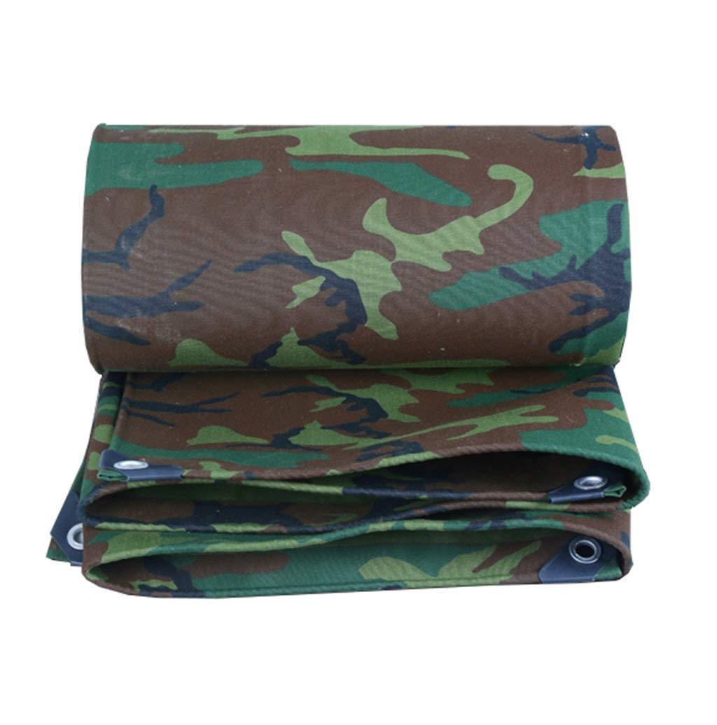 JKL Tela impermeabilizzata Resistente 100% Impermeabile e UV Campeggio all'aperto Camouflage Telo Impermeabile verde Telo Tenda da Barca, 500g   m², Spessore 0.8mm (Dimensioni   3x6m)