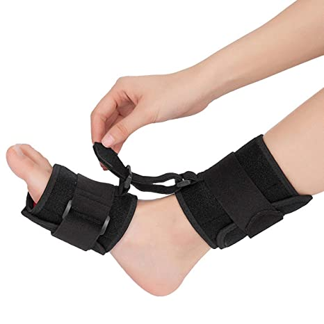 89599ce6be KuKiMa Soft Foot Drop Brace, Ankle Foot Dorsal Splint AFO Orthotic Stretch  with Dorsiflexion Assist