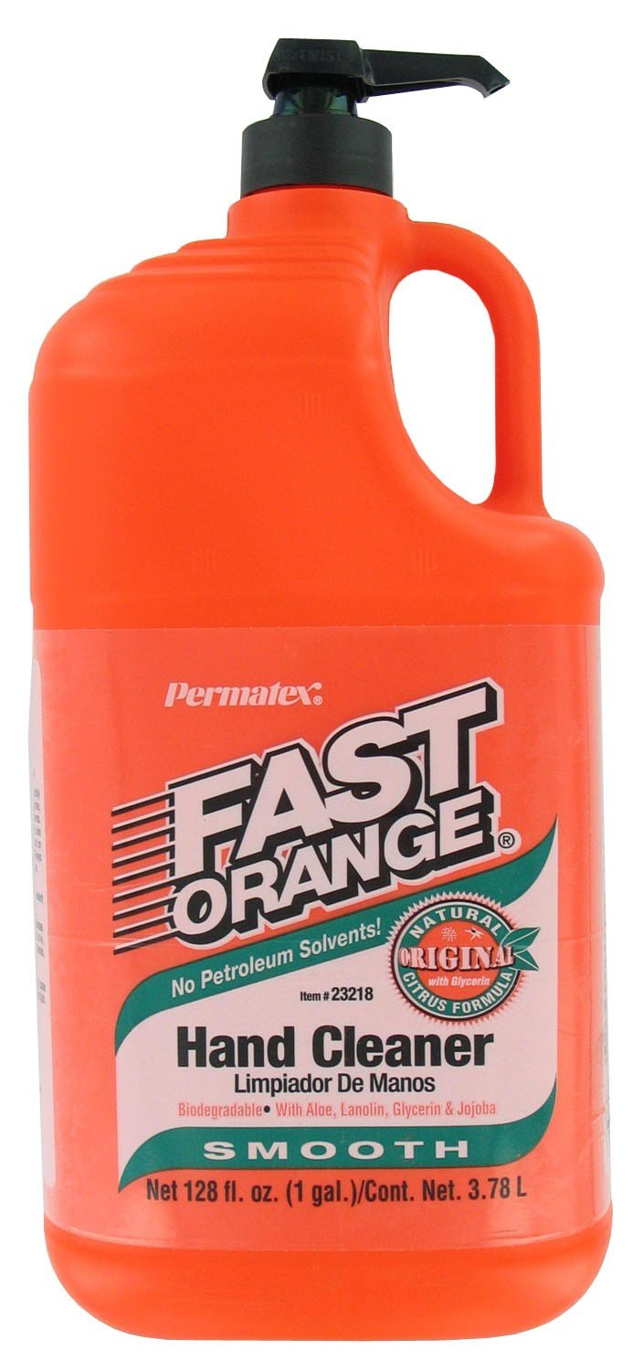 Permatex 23218 Fast Orange Smooth Lotion Hand Cleaners, Citrus, Bottle with Pump, 1 gal (Pack of 4)