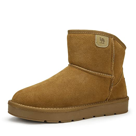 Men's Snow Boots With Warm Fur Booties Color Camel Size 42 M EU