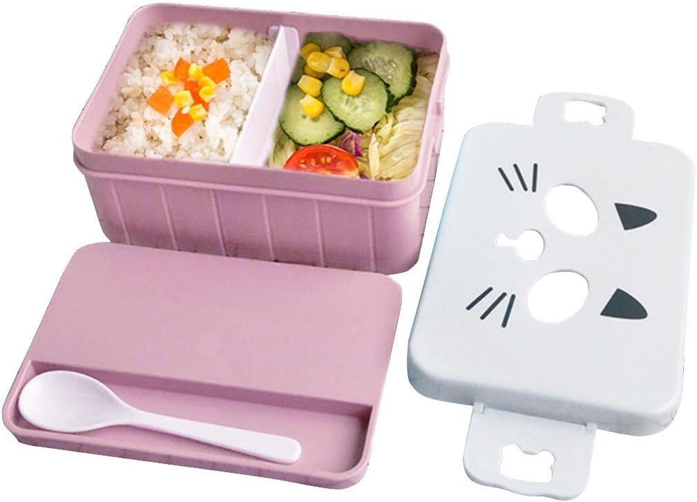 Fiambrera, Caja de almuerzo para niños - caja de bento bento box, Rosado: Amazon.es: Hogar