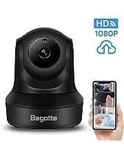 Bagotte Cámara IP WiFi, Cámara de Vigilancia WiFi Interior con Servicio Nube, 1080P HD Visión Nocturna, Pan/Tilt/Zoom, Audio de 2 Vías, Detección de Movimiento, Monitor para Bebé/Anciano/Perros