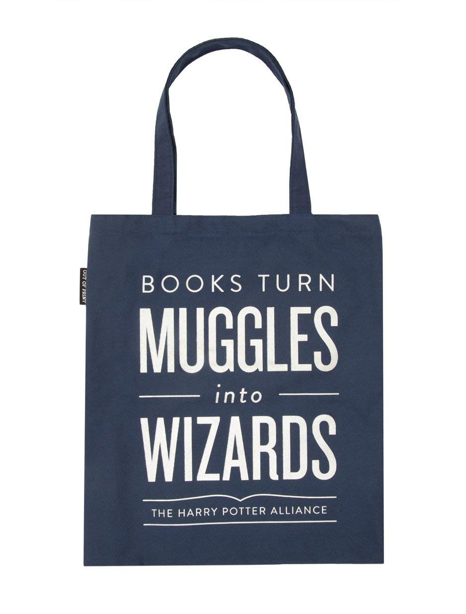 Out of Print Books Turn Muggles into Wizards Tote Bag