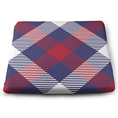 Tinmun Square Cushion, Patriotic Tartan Patterns USA Flag Large Pouf Floor Pillow Cushion for Home Decor Garden Party: Home & Kitchen