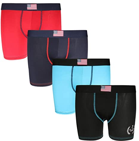 U.S. Polo Assn. Boys' Performance Active Compression Underwear Boxer Briefs (4 Pack) by U.S. Polo Assn.