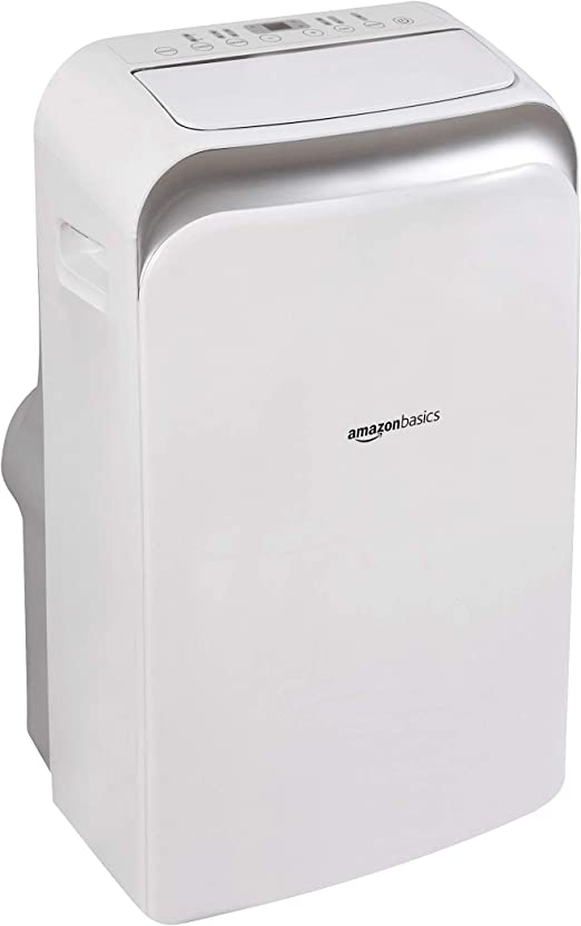 8,000 BTU Basics Portable Air Conditioner with Remote Cools 300 Square Feet