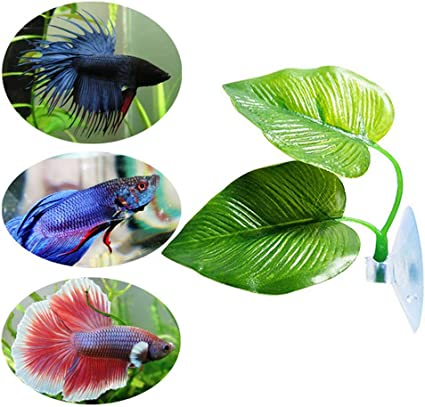 Aquarium High Simulation Leaf Nontoxic Eco-Friendly Betta Hammock Fish Rest Tank Decor Supplies