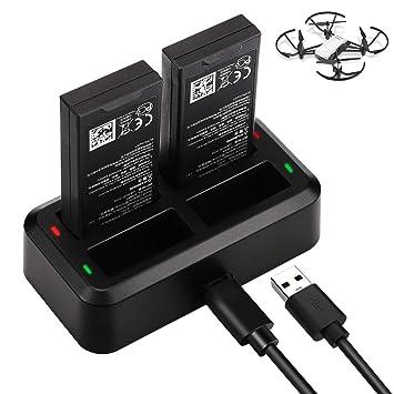 Tello Cargador de Batería, Keenstone Tello Drone 4 en 1 Cargador Inteligente, con un Cable USB y un Adaptador para ofrecerle más Comodidad